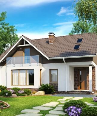 Z128 — проект дома с мансардой