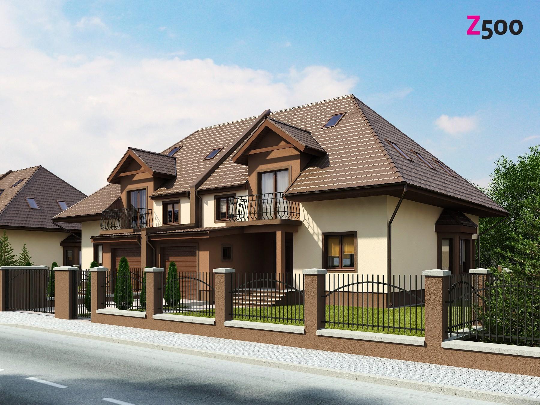 Фото красивых частных домов с гаражом 3