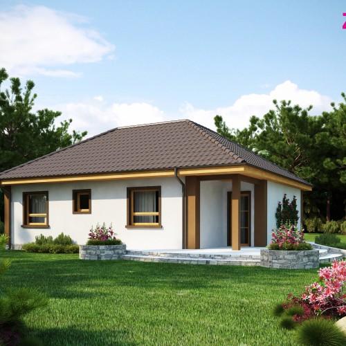 Готовый проект дачного дома - Z15