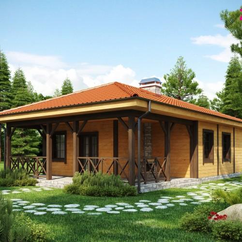 Типовой проект деревянного дома - Z16