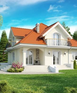 Типовой проект дома с мансардой - Z18