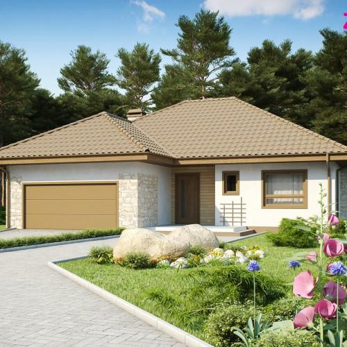 Проект готового дома с гаражом Z19