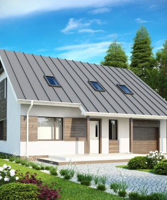 Проект частного дома с гаражом Минск