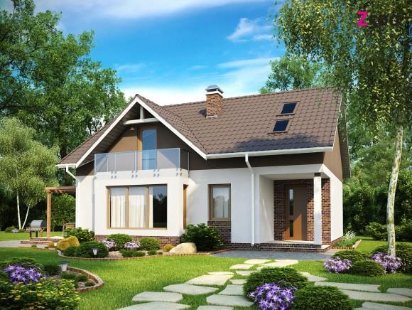 проект частного дома с мансардой из газобетона в Беларуси