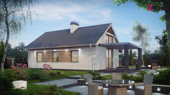 проект небольшого одноэтажного дома в Минске