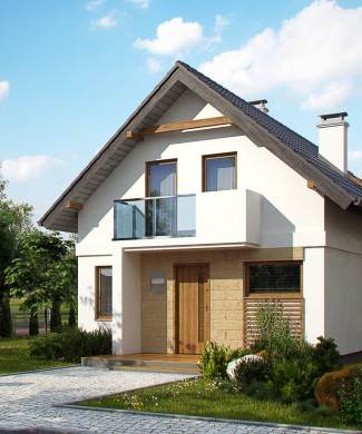 типовой проект загородного дома с гаражом в Минске