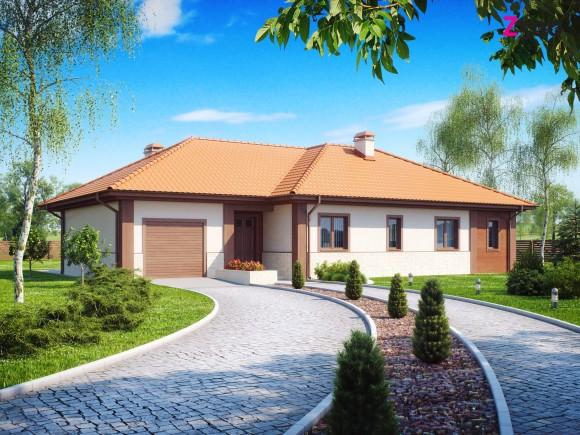 Проект одноэтажного частного дома с гаражом
