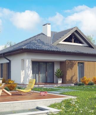 Готовый проект частного одноэтажного дома