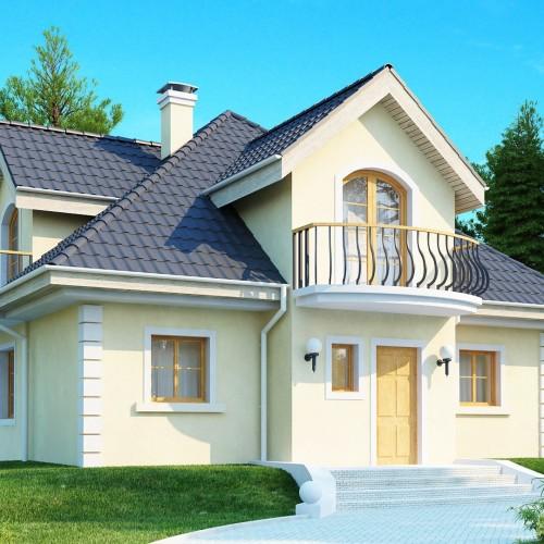 Готовый проект частного дома в классическом стиле