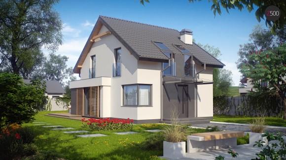 проект небольшого дома с мансардой в Минске