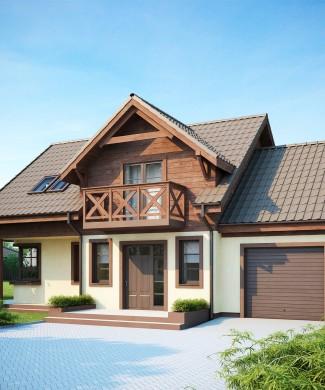 Готовый проект частного кирпичного дома в Беларуси