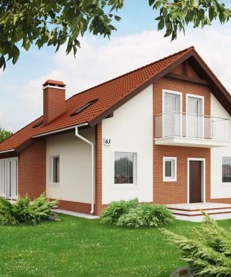 типовой проект дома с мансардой Беларусь