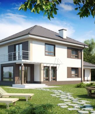 Проект двухэтажного дома в Беларуси