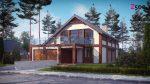 проект частного дома с гаражом на две машины
