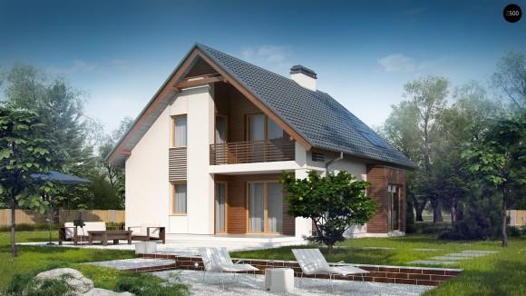 Готовый проект загородного дома Z166