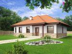 z23 - готовый проект одноэтажного частного дома из газобетона в Минске