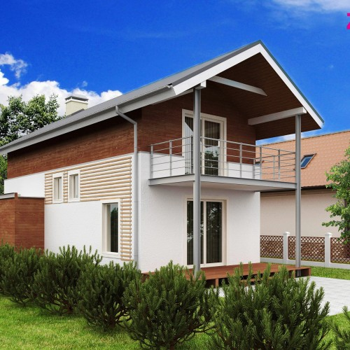 Проект частного дома для узкого участка Беларусь