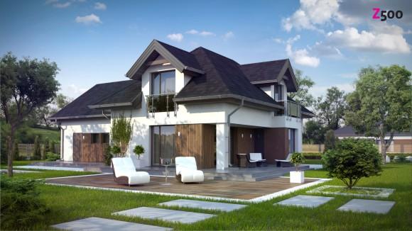проект загородного дома с гаражом на две машины в Минске