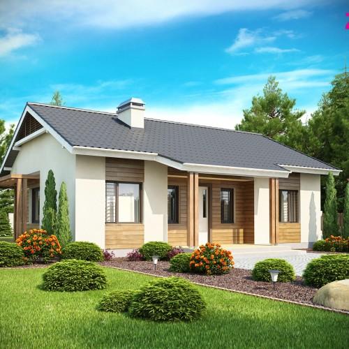Проект одноэтажного загородного коттеджа Минск