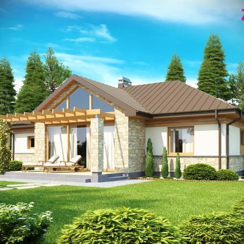 Проект одноэтажного загородного дома Z151