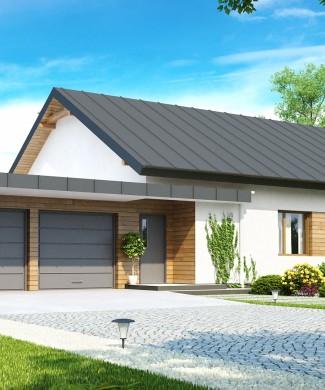 Проект одноэтажного дома с двойным гаражом Беларусь