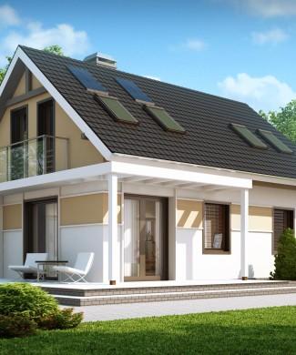 Z216 проект дома с навесом для машины