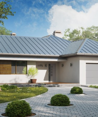 Проект частного одноэтажного дома с гаражом Z285