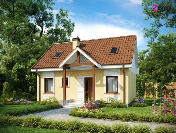 Проект мансардного дома из газобетона Z32