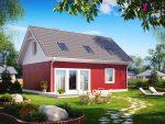 Небольшой дом с мансардой - проект в Беларуси