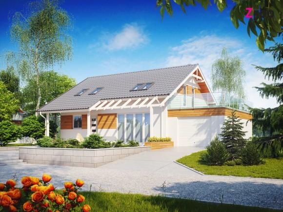 Мансардный дом с гаражом