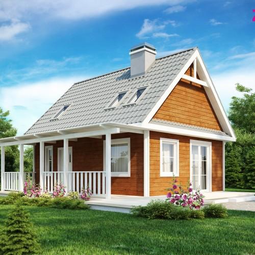 готовый проект небольшого дома с мансардой Беларусь