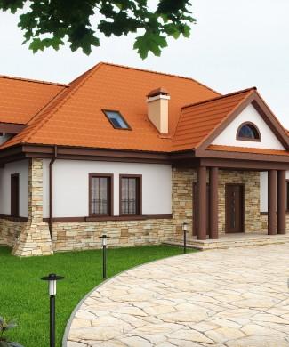 Проект дома на две семьи с двумя отдельными входами