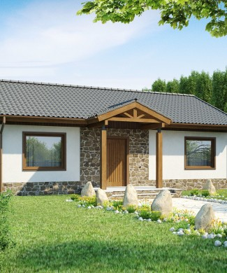 Z72 Проект одноэтажного дачного дома