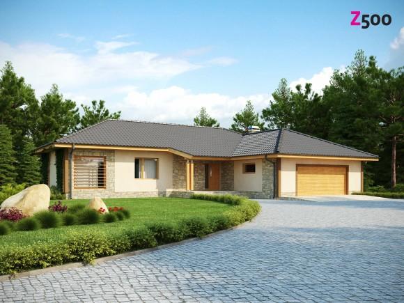 Проект одноэтажного дома с гаражом Z81