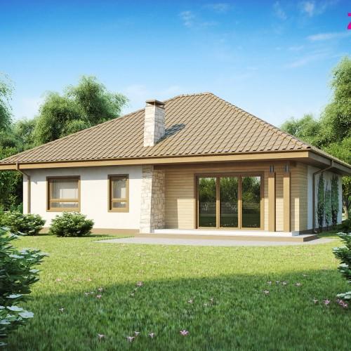 Проект частного одноэтажного дома с гаражом на две машины Беларусь