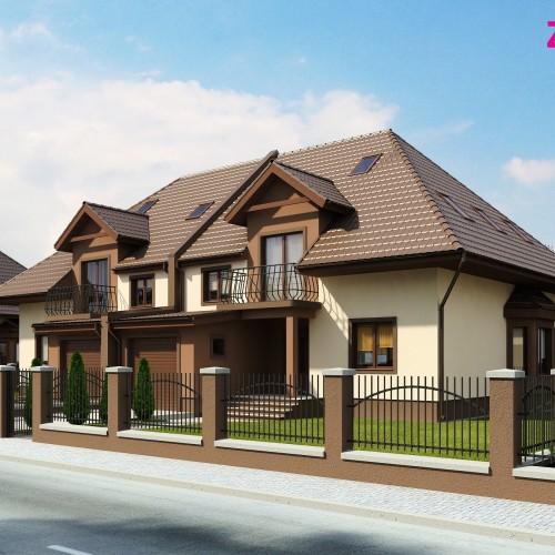 Проект загородного дома на две семьи в Беларуси