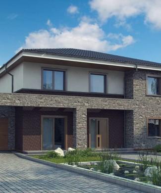 Готовый проект двухэтажного дома с гаражом Беларусь