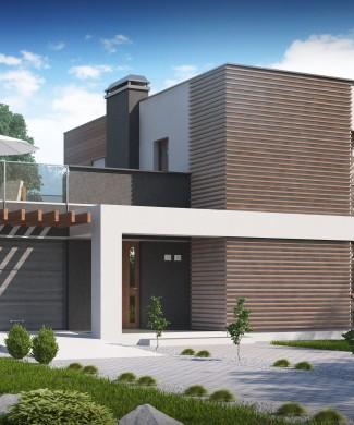 Проект дома в стиле хай-тек Беларусь