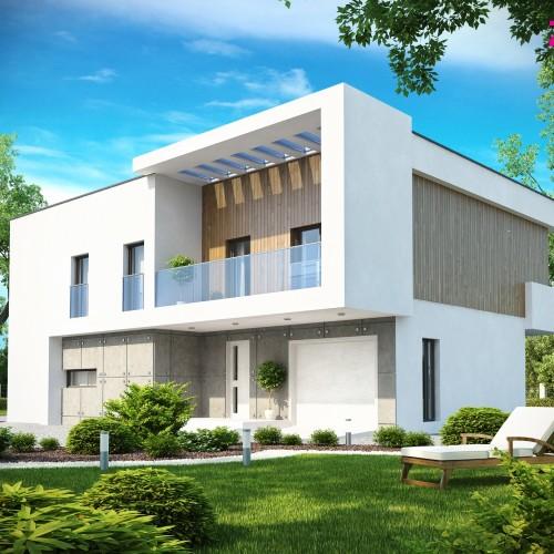 Проект дома в хай-тек с гаражом Минск