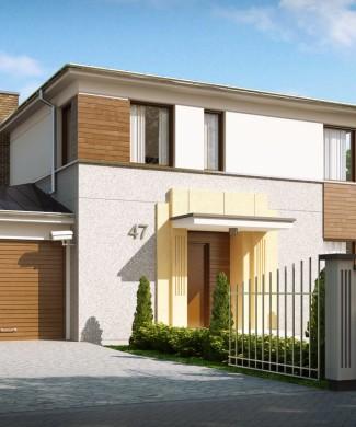 Проект двухэтажного дома с гаражом Минск