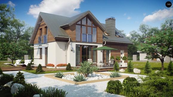 Типовой проект мансардного дома