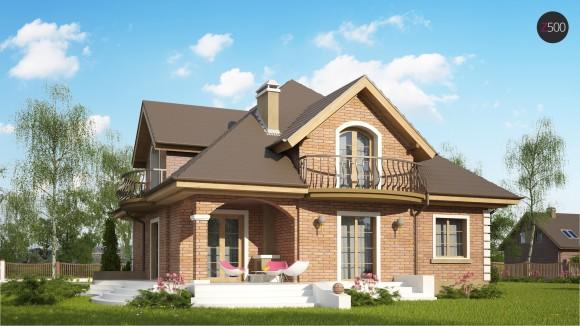 Проект дома с мансардой из кирпича Минск