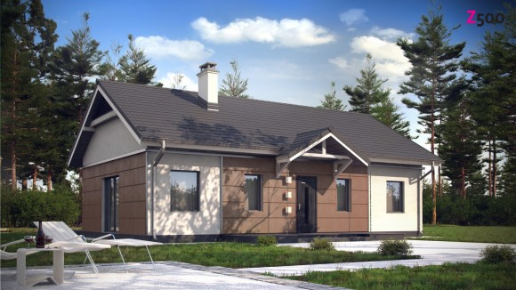 Проект небольшого одноэтажного дома Z241