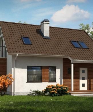 проект частного загородного дома Z101 Lh+