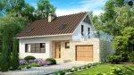 Проект кирпичного дома с гаражом и террасой Z127