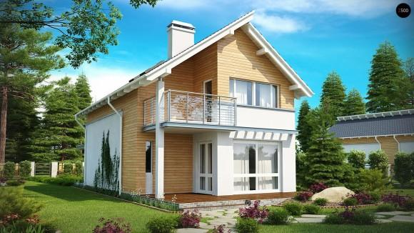 Готовый проект дома для узкого участка в Минске