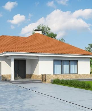 Готовый проект одноэтажного частного дома с гаражом