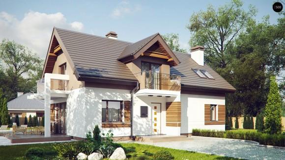 Проект красивого дома с мансардой в Минске