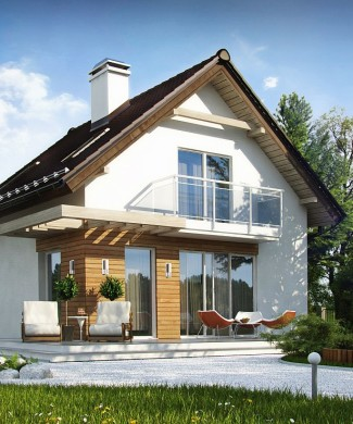 Проект дачного домика Z500 в Минске