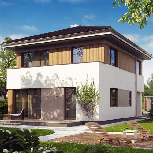 Готовый проект компактного двухэтажного дома Минск